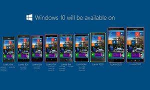 Lo publicitado que se actualizaría a Windows 10 Mobile