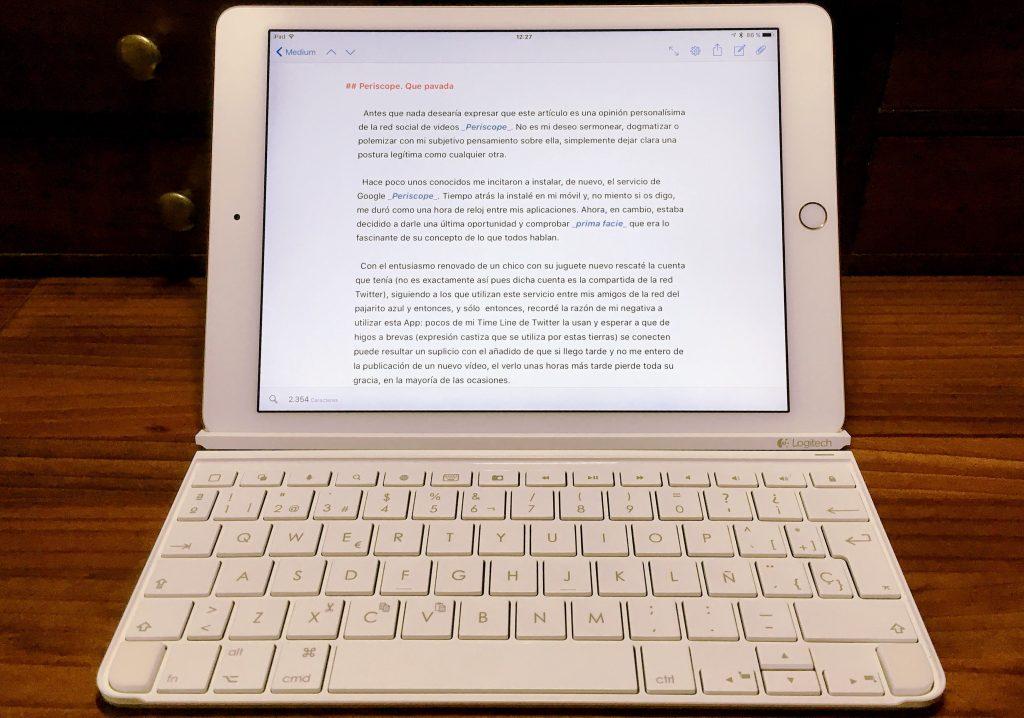 Mi iPad con teclado