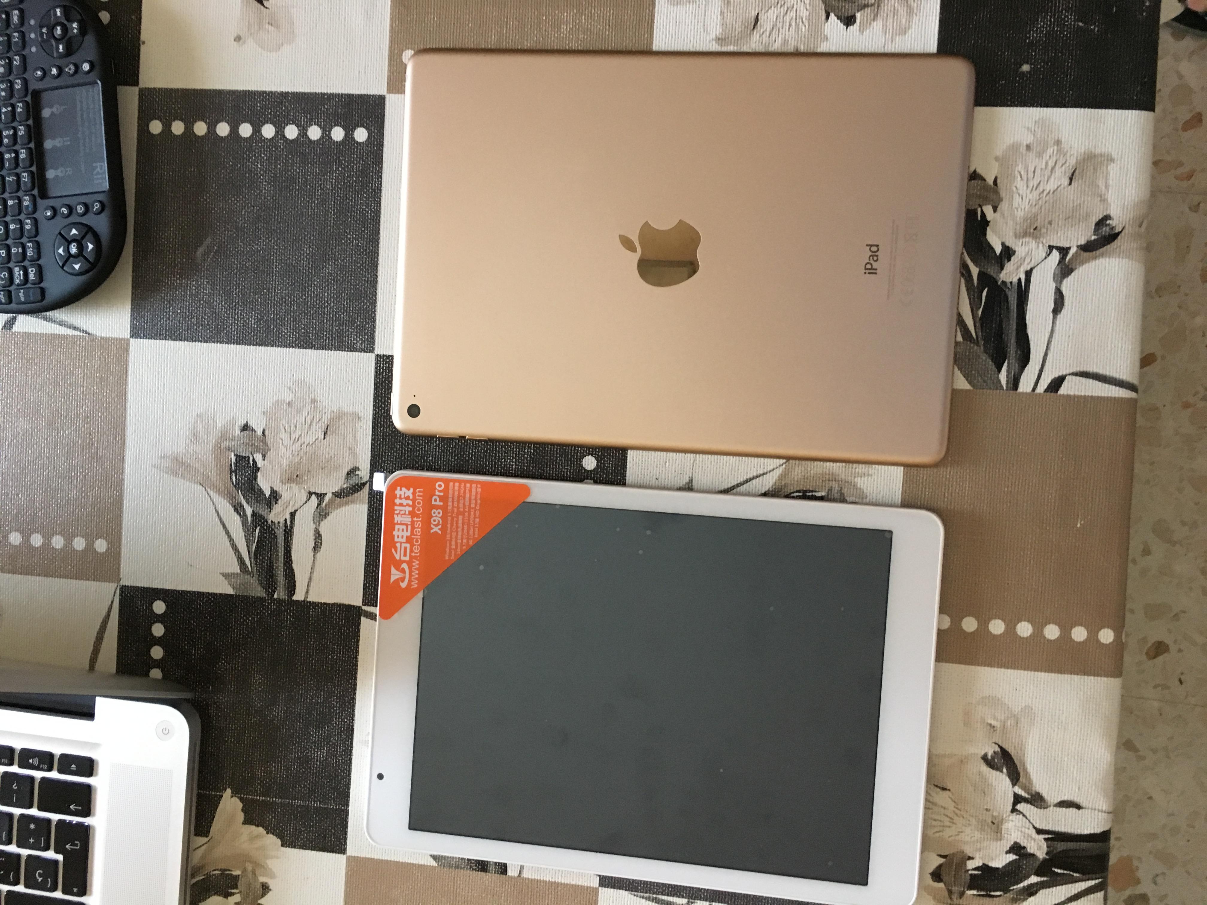 Comparación de la Teclast X98 Pro con el iPad Air 2