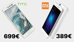 Precio móviles chinos VS grandes fabricantes