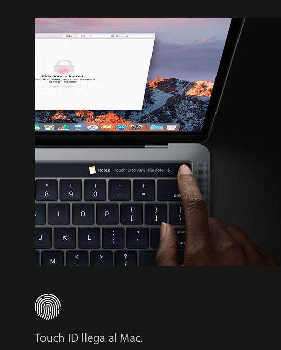 MacBook Pro y su Touch Bar
