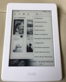 Interface del Kindle Paperwhite