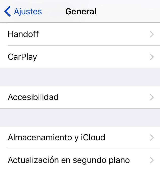 gestionar el almacenamiento del iphone