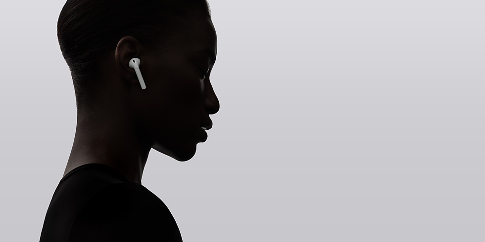 apple AirPods music inear black silhouette
