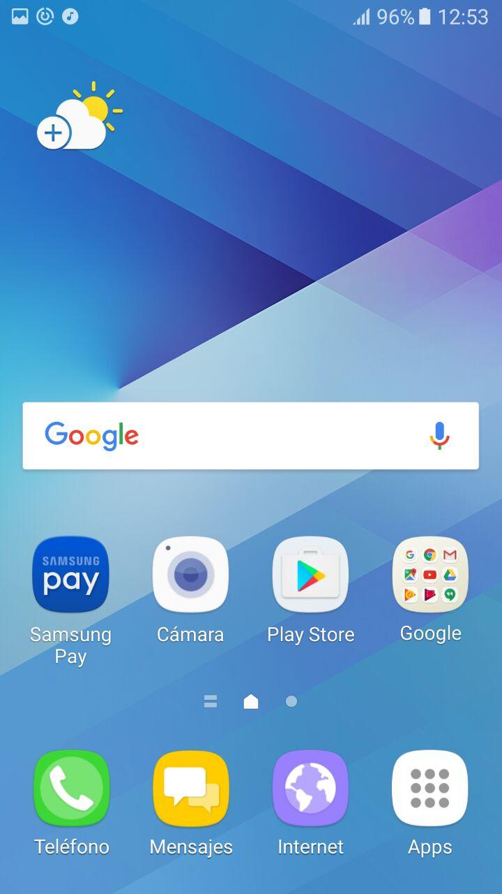captura de pantalla samsung galaxy a5 2017