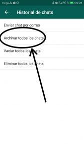 Cómo archivar los chats de Whatsapp