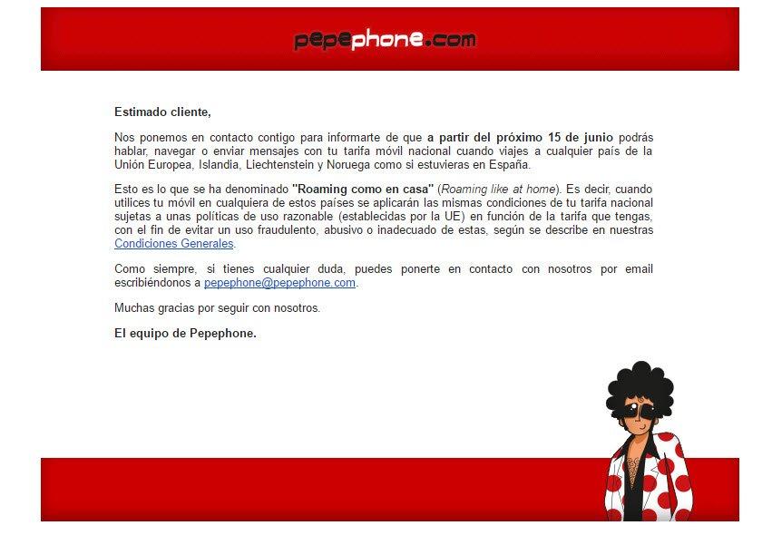 roaming gratis en pepephone 2017
