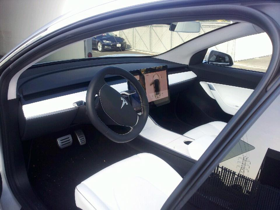 Detalle del interior del Tesla Model 3