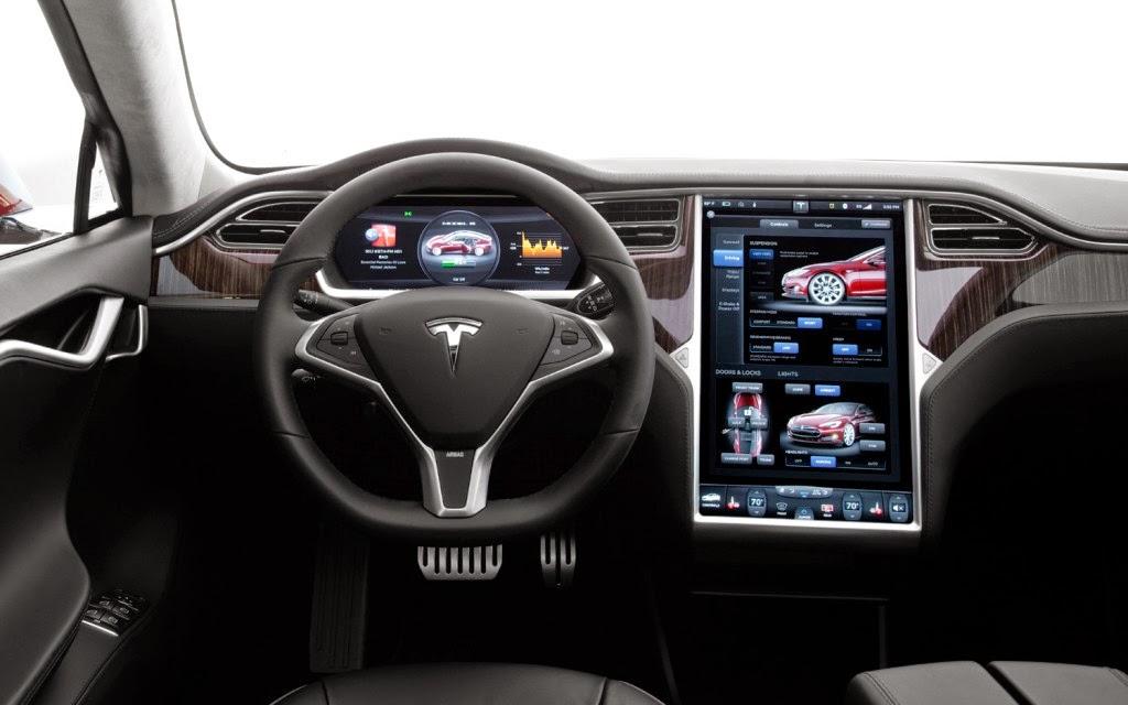 Detalle del interior del Tesla Model S