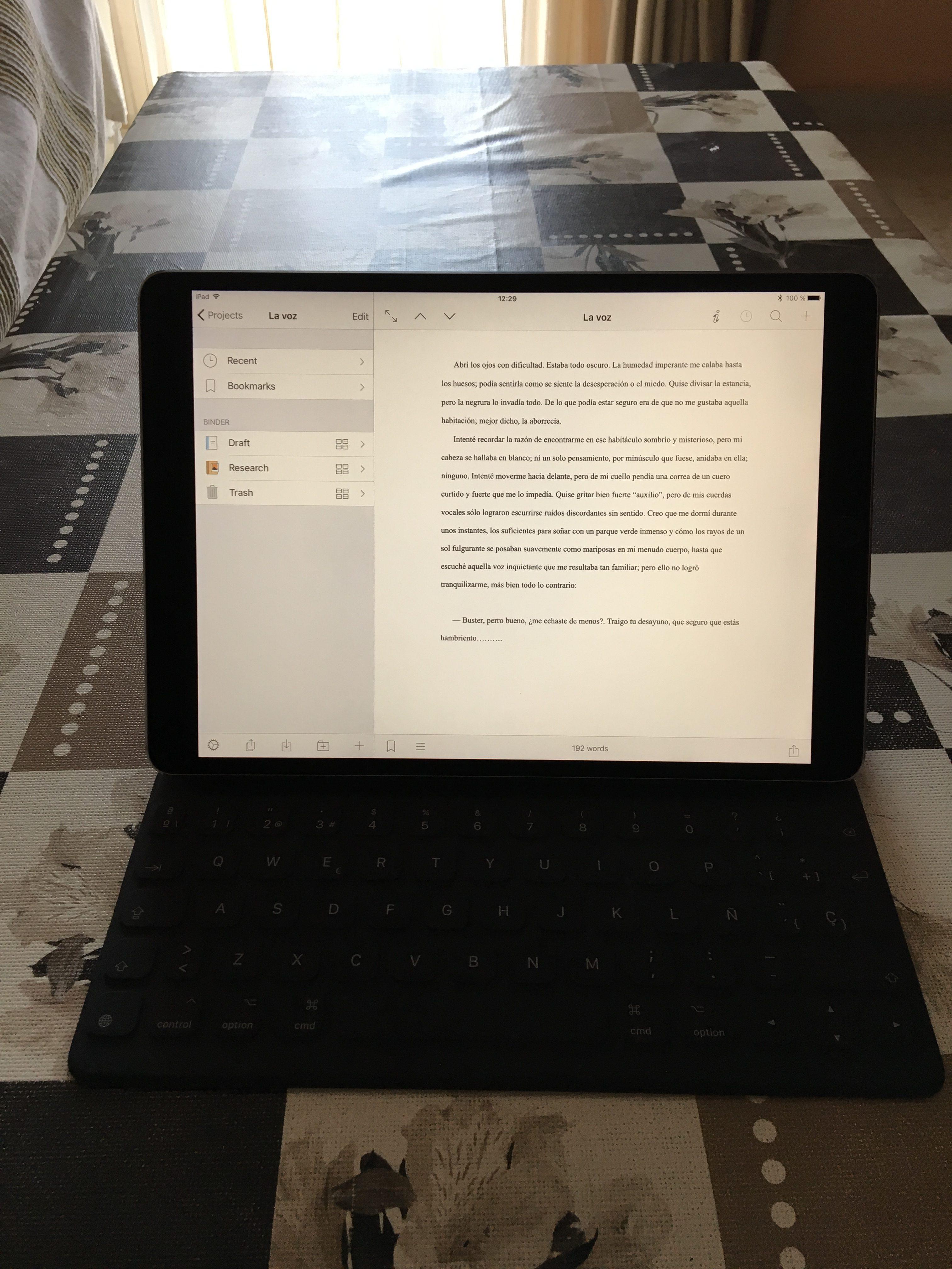 iPad Pro 10,5 con Smart Keyboard
