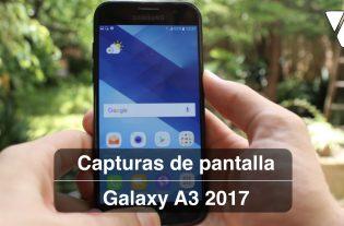 hacer capturas con tu Samsung Galaxy A3