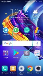 Capturas de pantalla Honor 9
