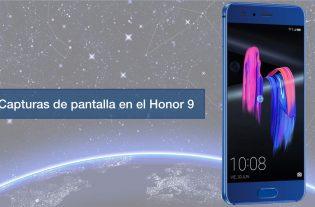 capturas de pantalla en el honor 9