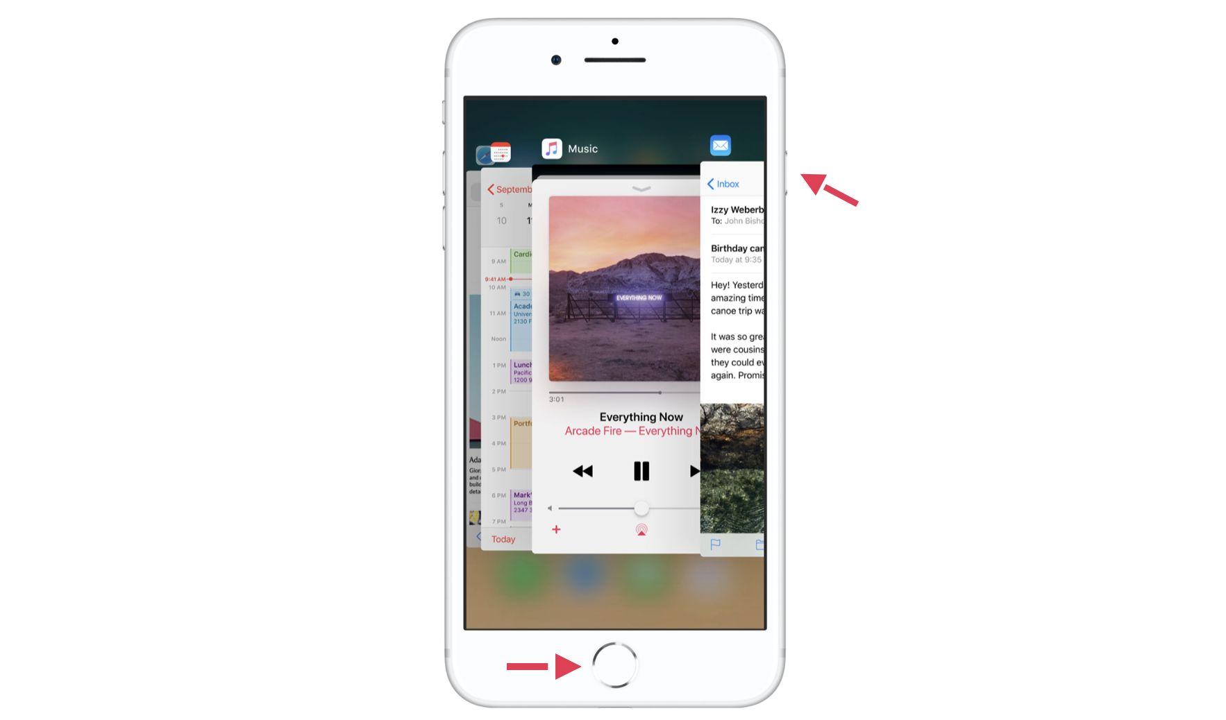 hacer capturas de pantalla en el iPhone 8