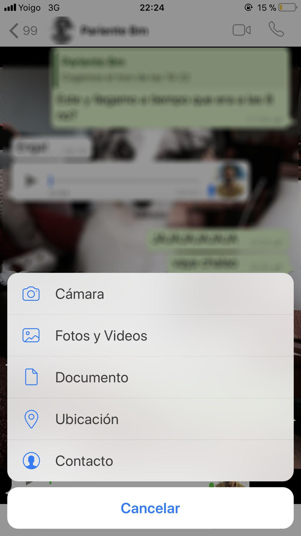 enviar imágenes por WhatsApp en calidad original iOS