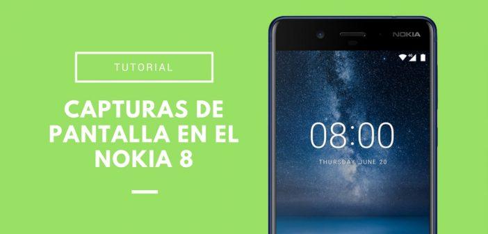 Cómo hacer capturas de pantalla en el Nokia 8