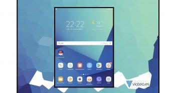 Capturas de pantalla en la Galaxy Tab S3