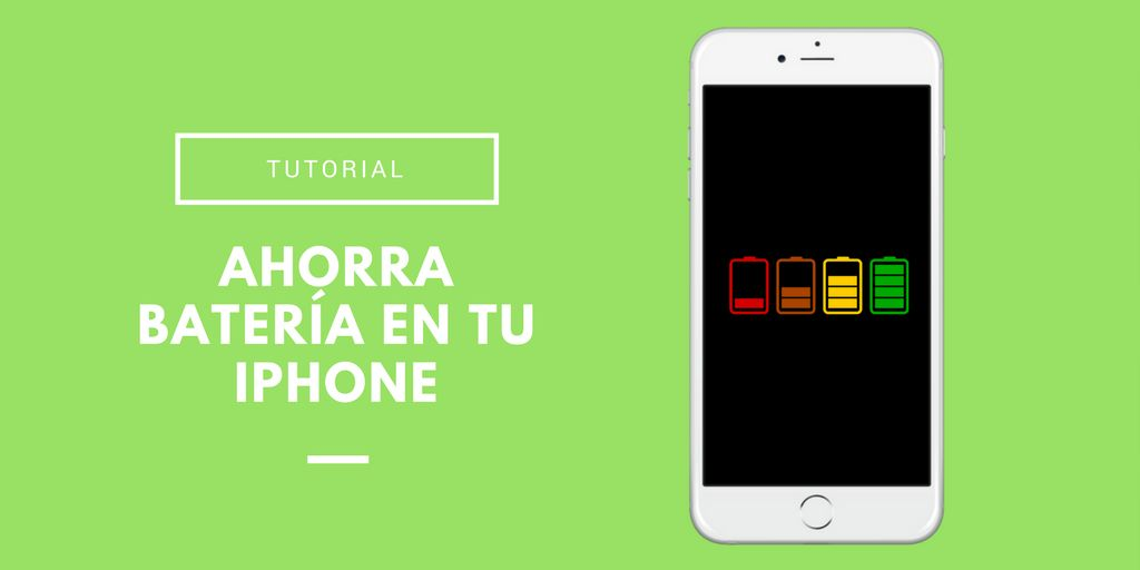 Ahorrar bateria en iPhone