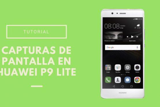 Capturas de pantalla en Huawei P9 Lite