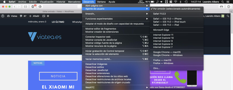 Simular otros dispositivos en macOS