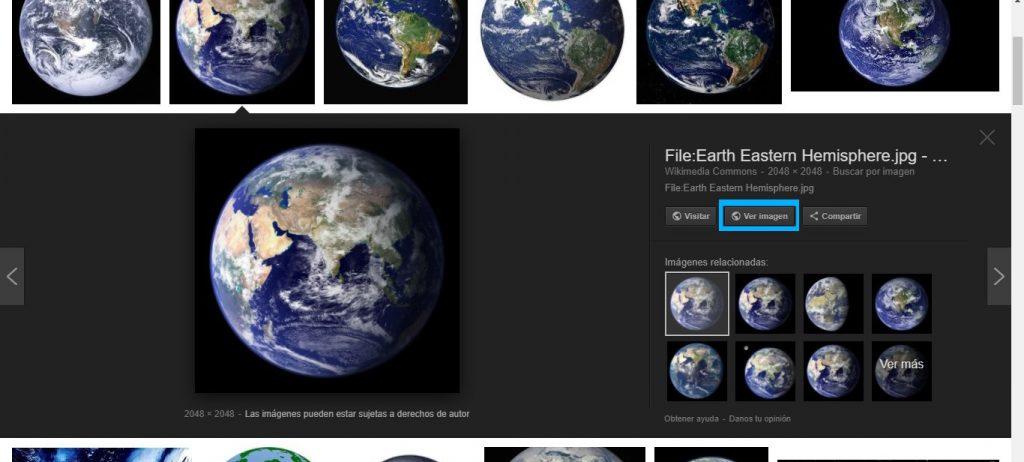 botón ver imagen en google