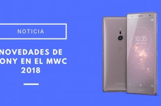 novedades de Sony en el MWC 2018