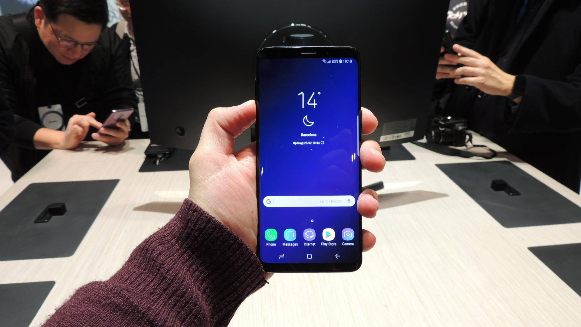 capturas de pantalla en el samsung galaxy S9
