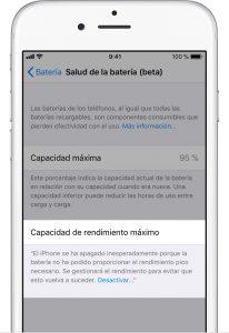 Controlador de rendimiento batería iOS 11