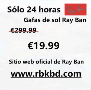 estafa oferta ray-ban