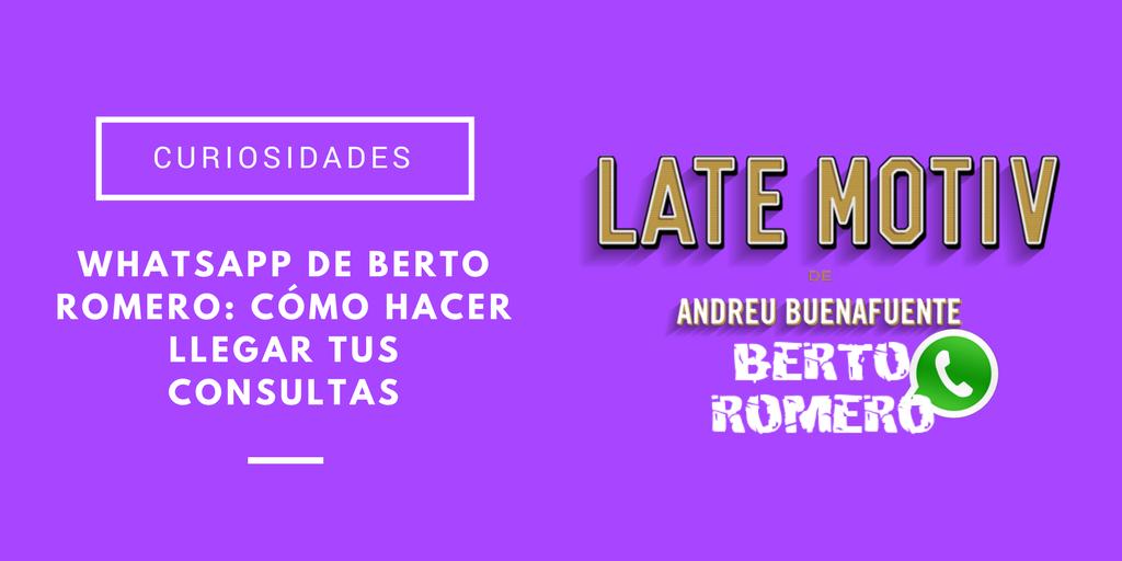 WhatsApp de Bero Romero