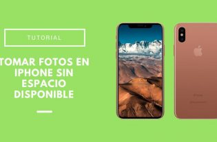tomar fotos en iPhone sin espacio disponible