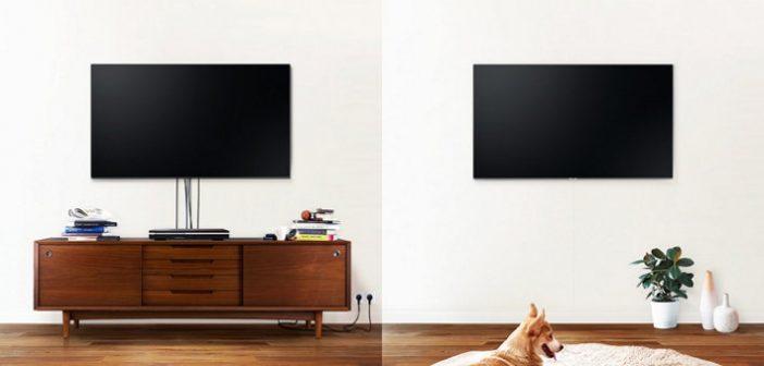 Cable invisible televisión transparente samsung