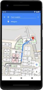 Navegación en interiores Android P