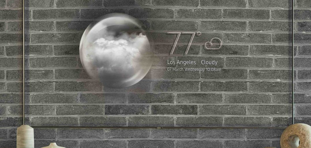 Televisión transparente samsung