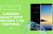 Samgung Galaxy Note 8 mojado