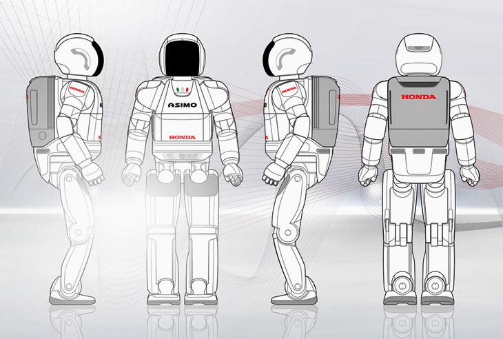 Diagrama con el aspecto físico del robot ASIMO