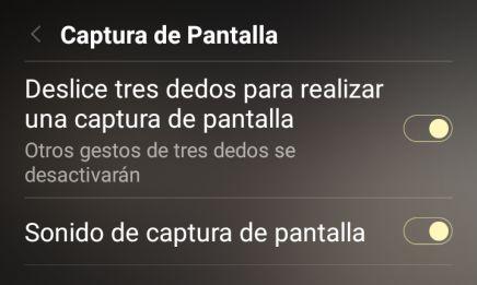 capturas de pantalla en el Xiaomi Redmi Note 4 y Redmi Note 5