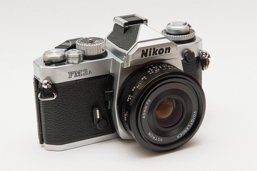 Nikon FM3a cámara de fotografía analógica retro plata