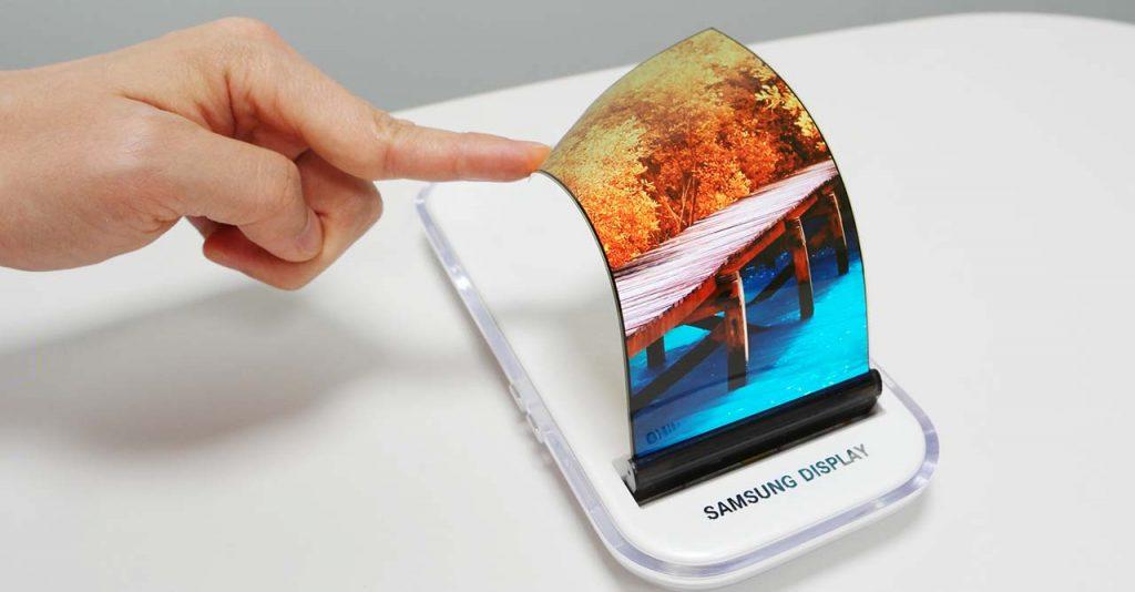 Samsung Galaxy X plegable pantalla oled panel flexible