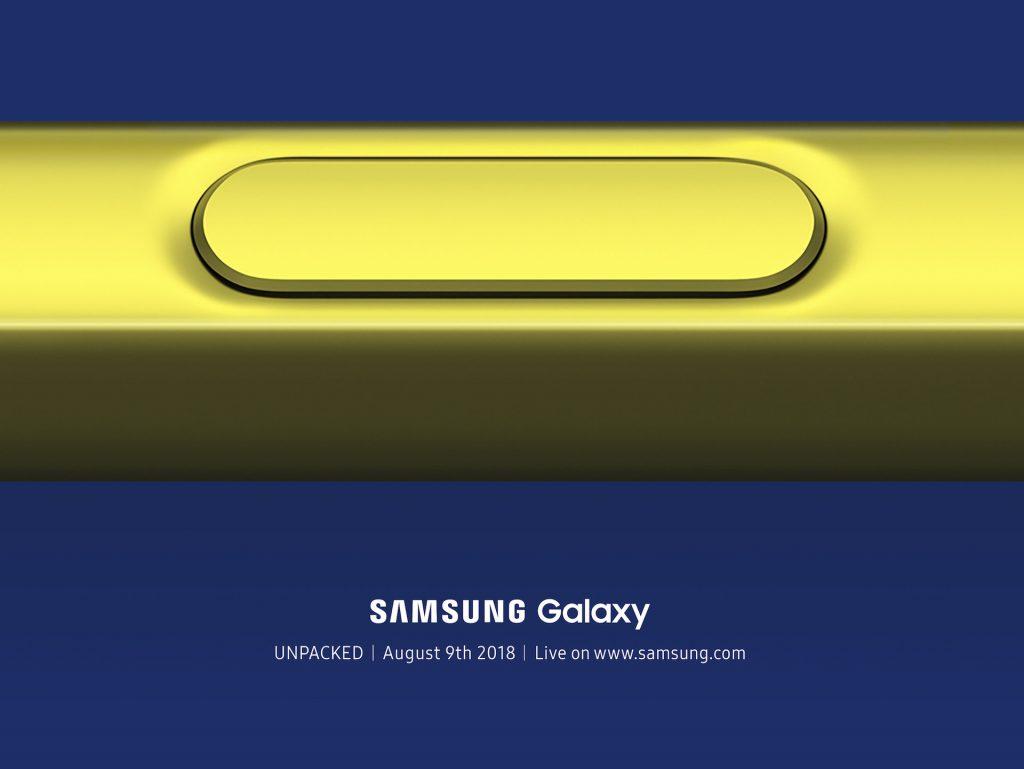 Samsung SPen S-pen s pen nuevo galaxy note 9 unpacked presentación