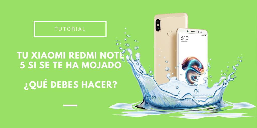 Xiaomi Redmi Note 5 mojado