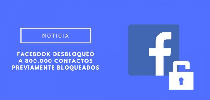 fallo de facebook bloquados contactos