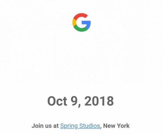 invitacion google pixel 3