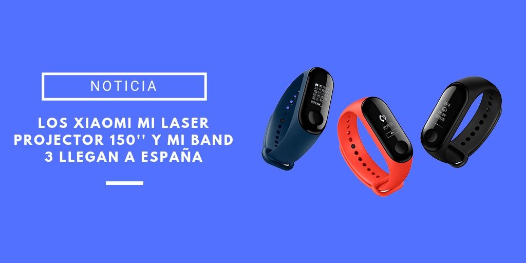 Mi Laser Projector 150'' y Mi Band 3