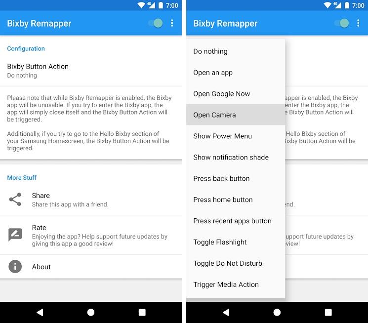 cambiar el uso del boton Bixby en el Note 9