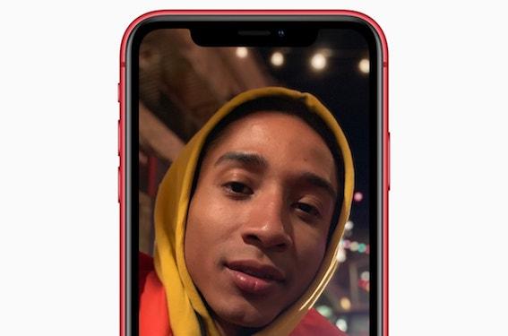 iPhone XR TrueDepth Fondo desenfocado retrato cámara frontal
