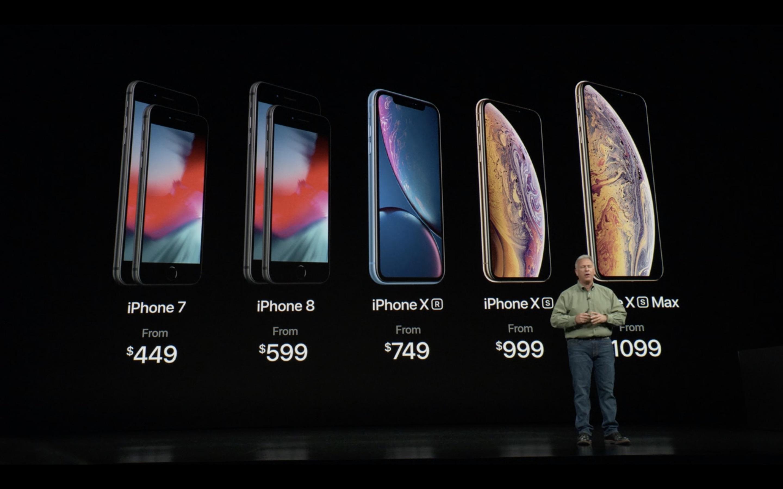 iPhone Xs Max Xr gama precios apple