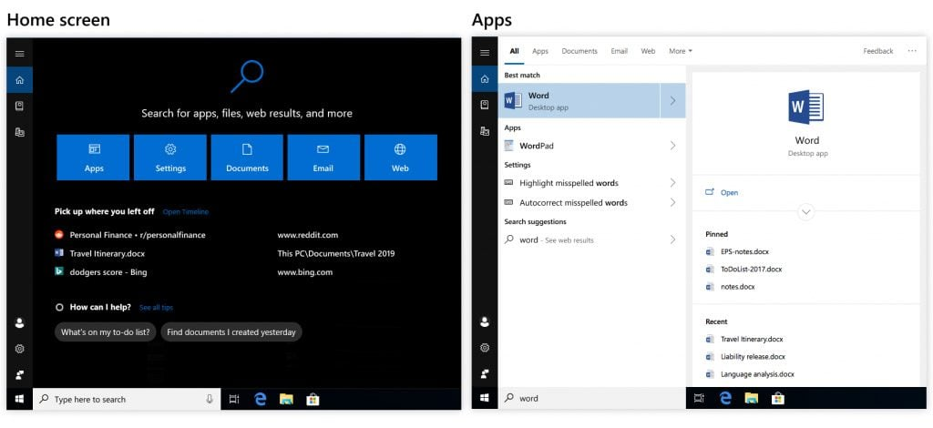 modo oscuro windows 10 october update