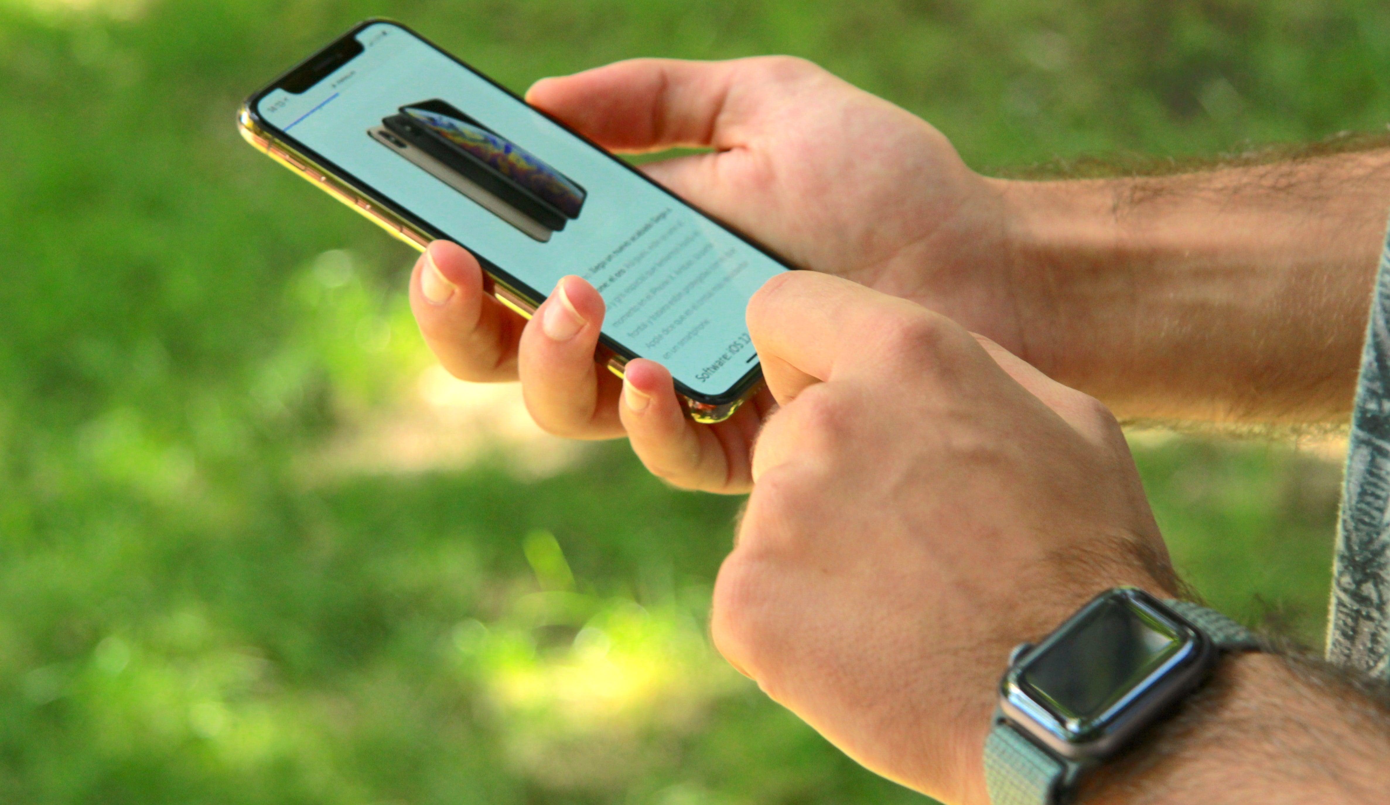 iPhone XS prueba pantalla