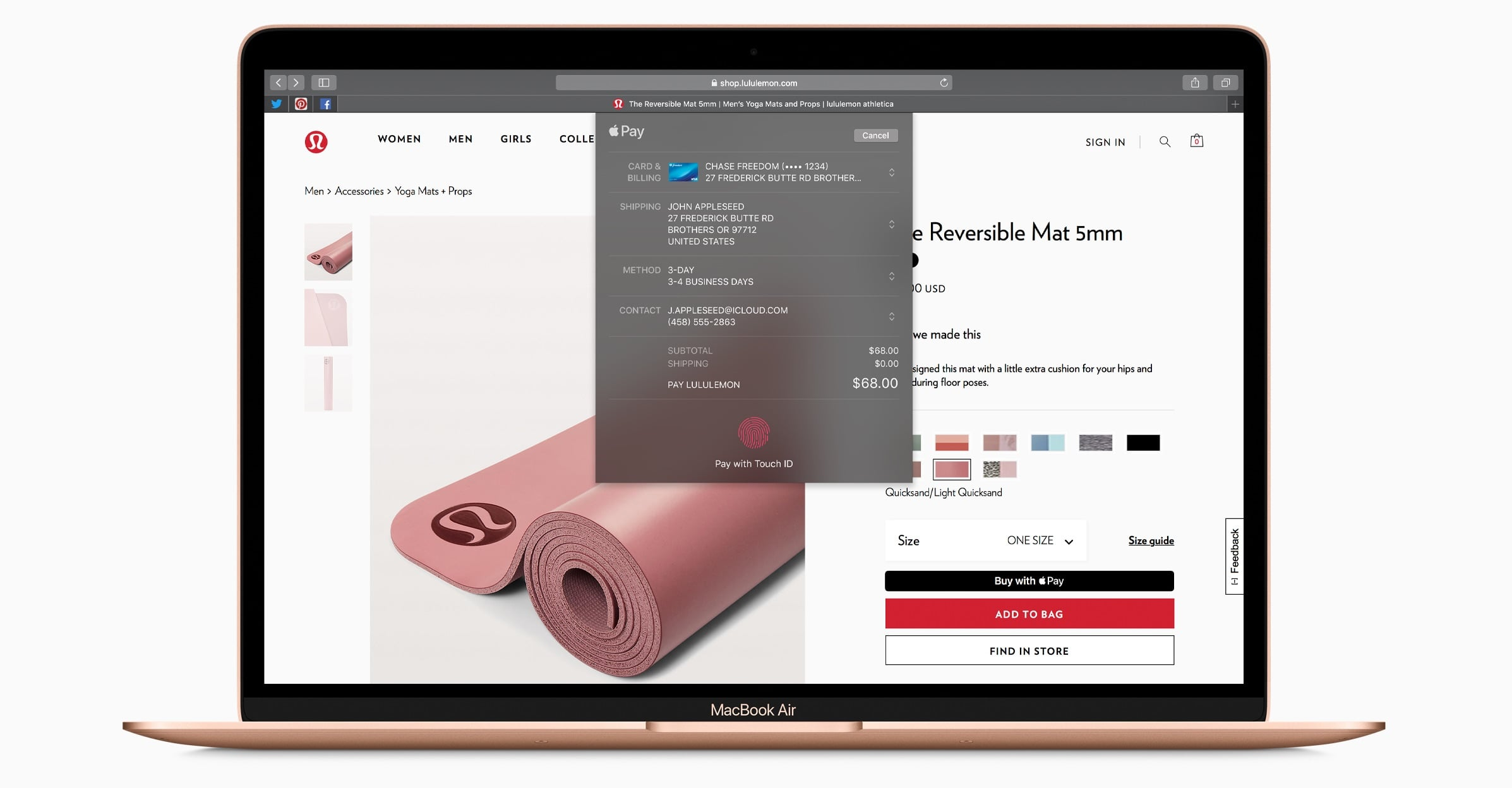 Apple pay en el nuevo MacBook Air